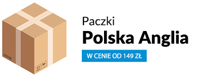 paczki Polska Anglia cennik